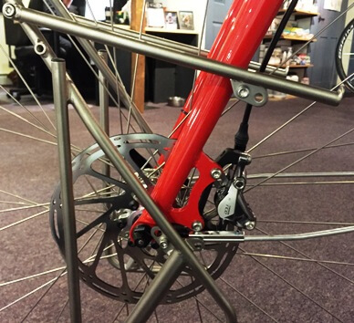 Tubus Front Pannier Rack and Disc Brake Touring Fork